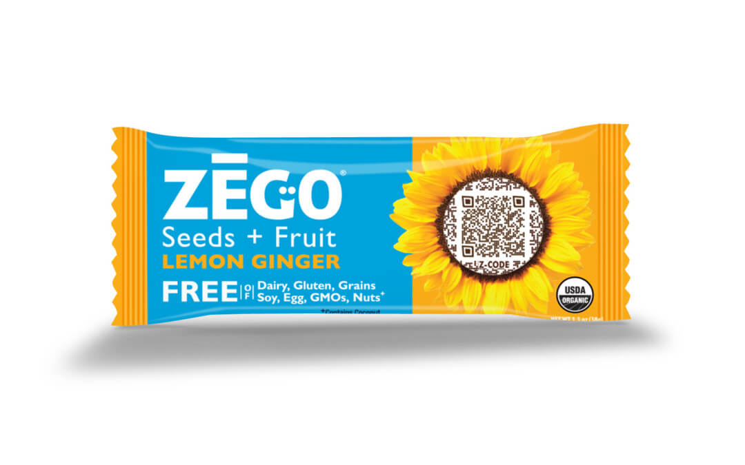 ZEGO's New Lemon Ginger Bar Features Anti-Inflammatory Spices