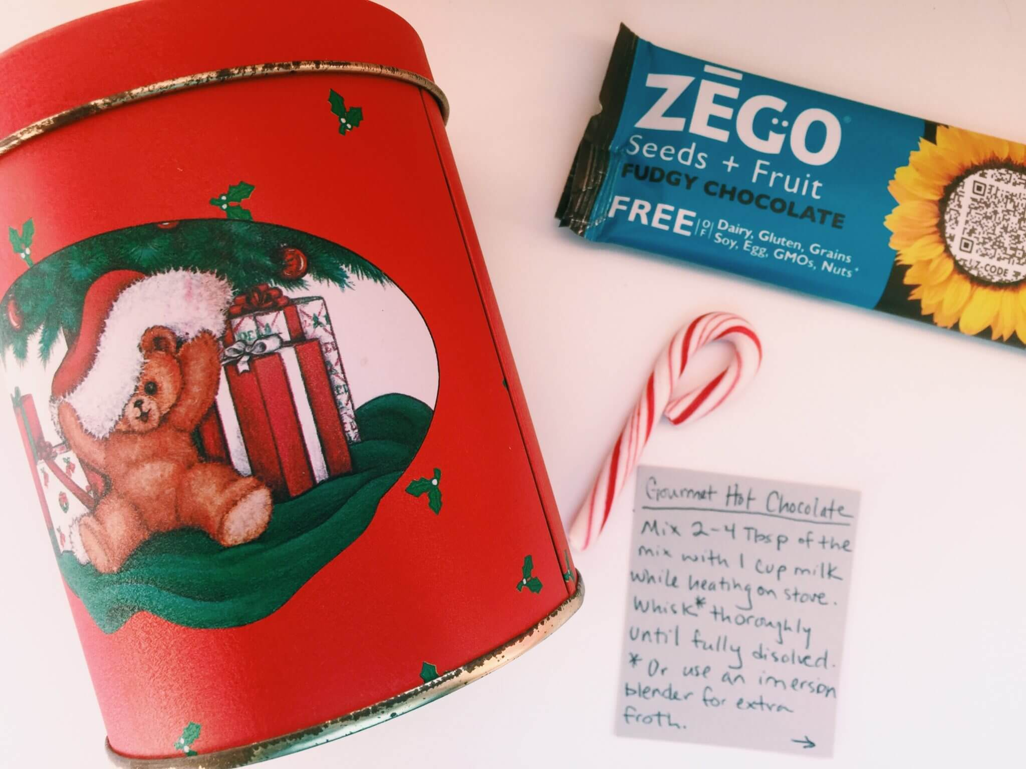 allergy friendly ZEGO bars inspired hot chocolate