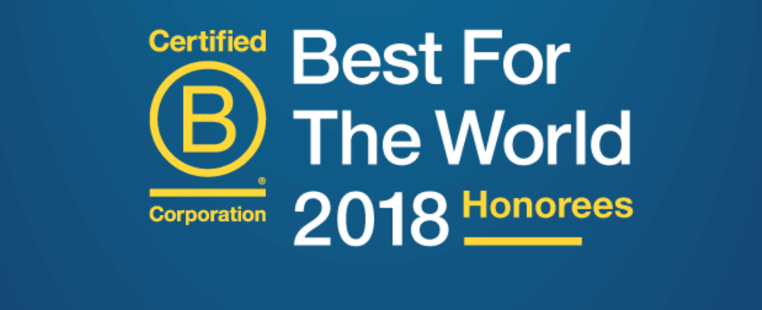 ZEGO Awarded Best in World by B Lab