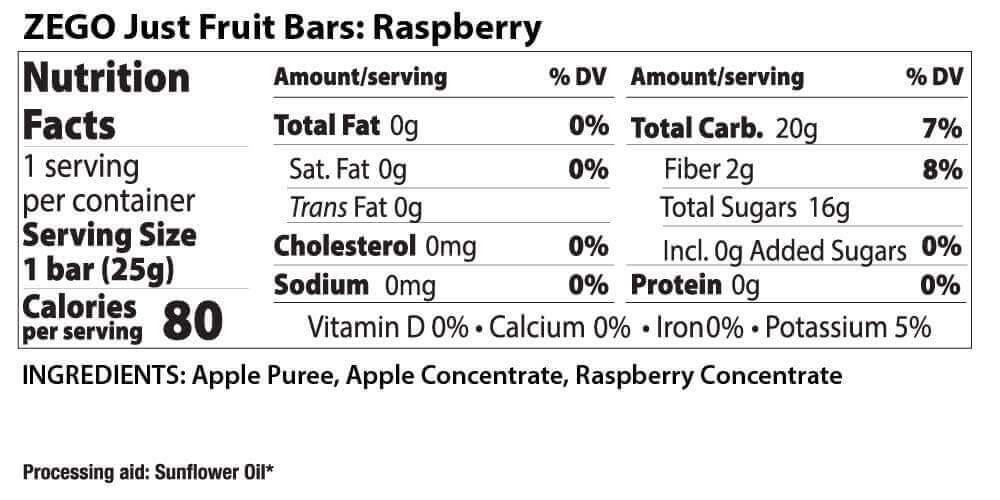 Nutrition & Ingredients – ZEGO Foods