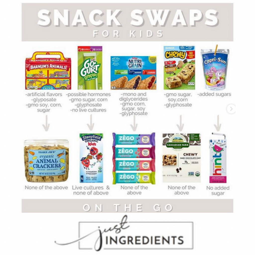 Snack Swaps Just Ingredients